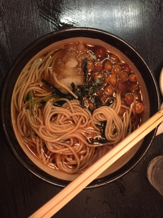 Mushroom soba. This is the meal where I poured myself a nice cup of pasta water.